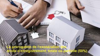 La prorogation de l'exonération des droits d'enregistrement, indispensable pour relancer le secteur immobilier.
